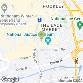 Map of St. Marys Family Law Chambers in Nottingham, nottinghamshire