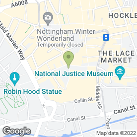 Map of Greggs in Nottingham, nottinghamshire