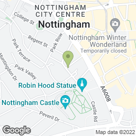 Map of Park Dental Care in Nottingham, nottinghamshire