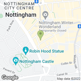Map of Coca-Cola Enterprises Ltd in Nottingham, nottinghamshire