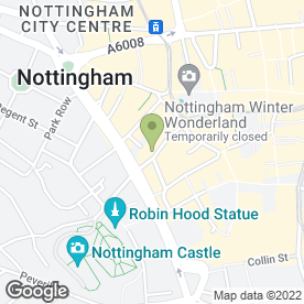 Map of Draefern Ltd in Nottingham, nottinghamshire