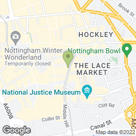 Map of Mark Stewart Architect in Nottingham, nottinghamshire