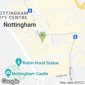 Map of Surveyors Nottingham in Nottingham, nottinghamshire