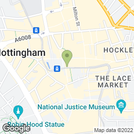 Map of Office Angels Ltd in Nottingham, nottinghamshire