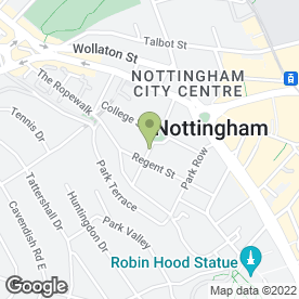 Map of Lincoln Chapman Ltd in Nottingham, nottinghamshire