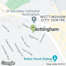 Map of K.C.H Barristers in Nottingham, nottinghamshire