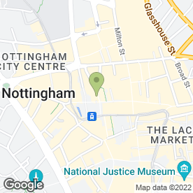 Map of Brook Street in Nottingham, nottinghamshire