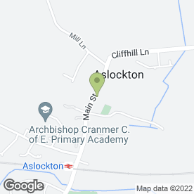 Map of Goldy-Locks in Aslockton, Nottingham, nottinghamshire