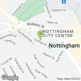 Map of Active Web Design in Nottingham, nottinghamshire