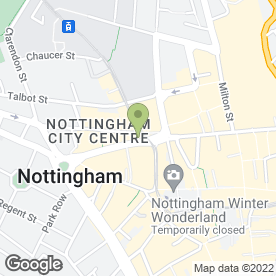 Map of P & K Recruitment Ltd in Nottingham, nottinghamshire