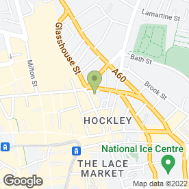 Map of New Market Inn in Nottingham, nottinghamshire