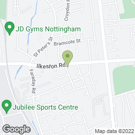 Map of Grand Master Vohra's Martial Arts Academy in Nottingham, nottinghamshire
