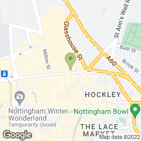Map of Boost Juice Bars (UK) Ltd in Nottingham, nottinghamshire