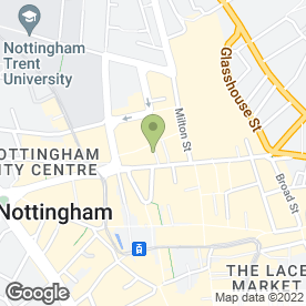 Map of City Dental Practice in Nottingham, nottinghamshire