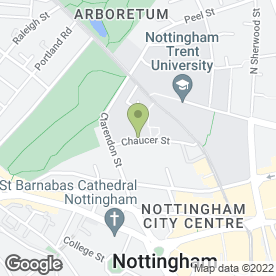 Map of Womens Aid Intergrated Services in Nottingham, nottinghamshire