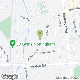 Map of Nottingham Mot Centre in Nottingham, nottinghamshire