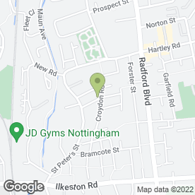 Map of Newtons Plumbers in Nottingham, nottinghamshire