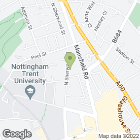 Map of Advanced Imaging Ltd in Nottingham, nottinghamshire