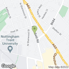Map of Photo Nottingham in Nottingham, nottinghamshire