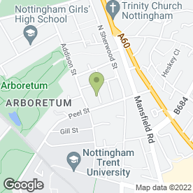 Map of DGP Recruitment in Nottingham, nottinghamshire