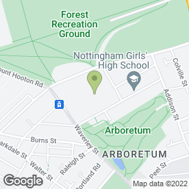 Map of Nottingham High School in Nottingham, nottinghamshire