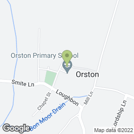 Map of The Durham Ox in Orston, Nottingham, nottinghamshire
