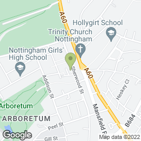 Map of Graduates Property Management Ltd in Nottingham, nottinghamshire