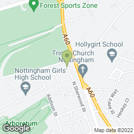 Map of Nottingham Student Housing in Nottingham, nottinghamshire