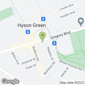 Map of Forest Veterinary Surgery in Nottingham, nottinghamshire