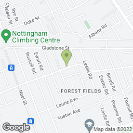 Map of Pride Beauty And Electrolysis Clinic in Nottingham, nottinghamshire