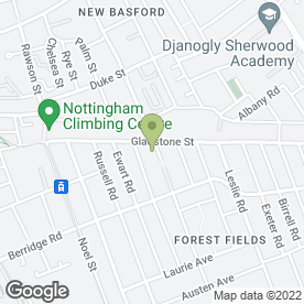 Map of Basic Educational Guidance in Nottinghamshire in Forest Fields, Nottingham, nottinghamshire