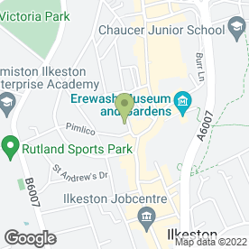 Map of Scala Cinema in Ilkeston, derbyshire