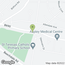 Map of Beacon Hotel in Aspley, Nottingham, nottinghamshire