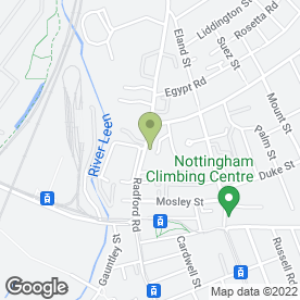 Map of Intelligent Boiler Installation in Nottingham, nottinghamshire
