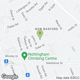 Map of Pompadour in New Basford, Nottingham, nottinghamshire