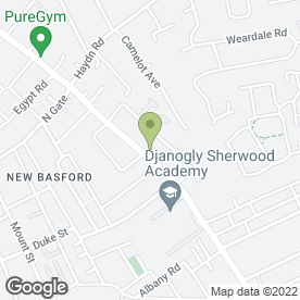 Map of Happy Eater in New Basford, Nottingham, nottinghamshire
