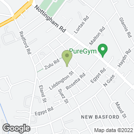 Map of FIRST FOR FASCIAS in Nottingham, nottinghamshire