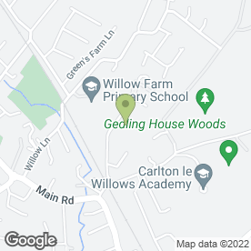 Map of Bushido Academy of Martial Arts in Gedling, Nottingham, nottinghamshire