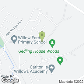 Map of DAISIES DAY NURSERY in Gedling, Nottingham, nottinghamshire