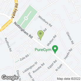 Map of Sandicliffe Mazda & Ford Basford in Nottingham, nottinghamshire