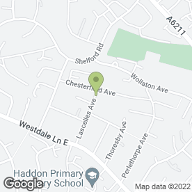Map of HDS Appliance Services in Gedling, Nottingham, nottinghamshire