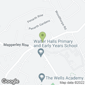 Map of JJBBA Martial Arts Mapperley in Nottingham, nottinghamshire
