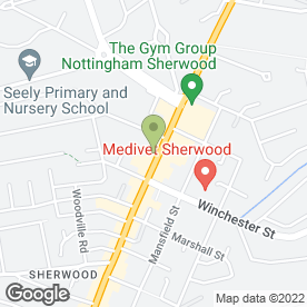 Map of Hammond Property Services in Sherwood, Nottingham, nottinghamshire