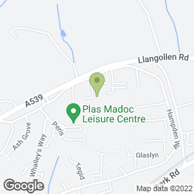 Map of Gm Guttering & Roofing Services in Acrefair, Wrexham, clwyd