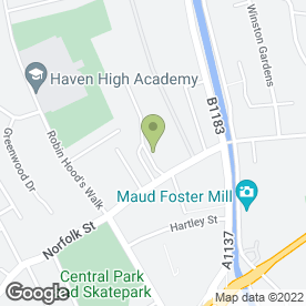 Map of Skegness College of Vocational Training in Boston, lincolnshire