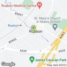 Map of The Duke of Wellington in Ruabon, Wrexham, clwyd