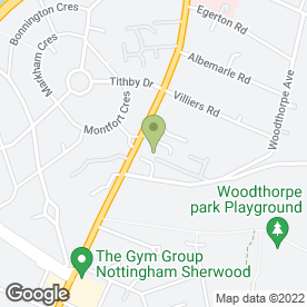 Map of Nottingham Sports Injury Clinic in Woodthorpe, Nottingham, nottinghamshire