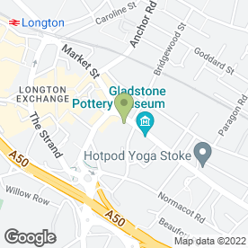 Map of Young & Co in Longton, Stoke-On-Trent, staffordshire