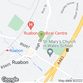 Map of Adams Emergency Plumbing in Ruabon, WREXHAM, clwyd