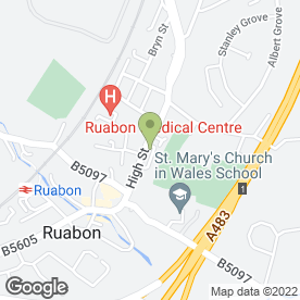 Map of Ruabon Medical Centre in Ruabon, Wrexham, clwyd